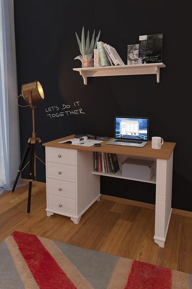 Стол письменный с ящиками из сосны фото