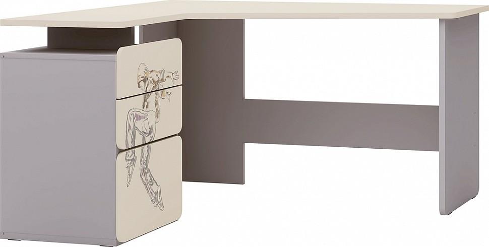 Угловой письменный стол с рисунком